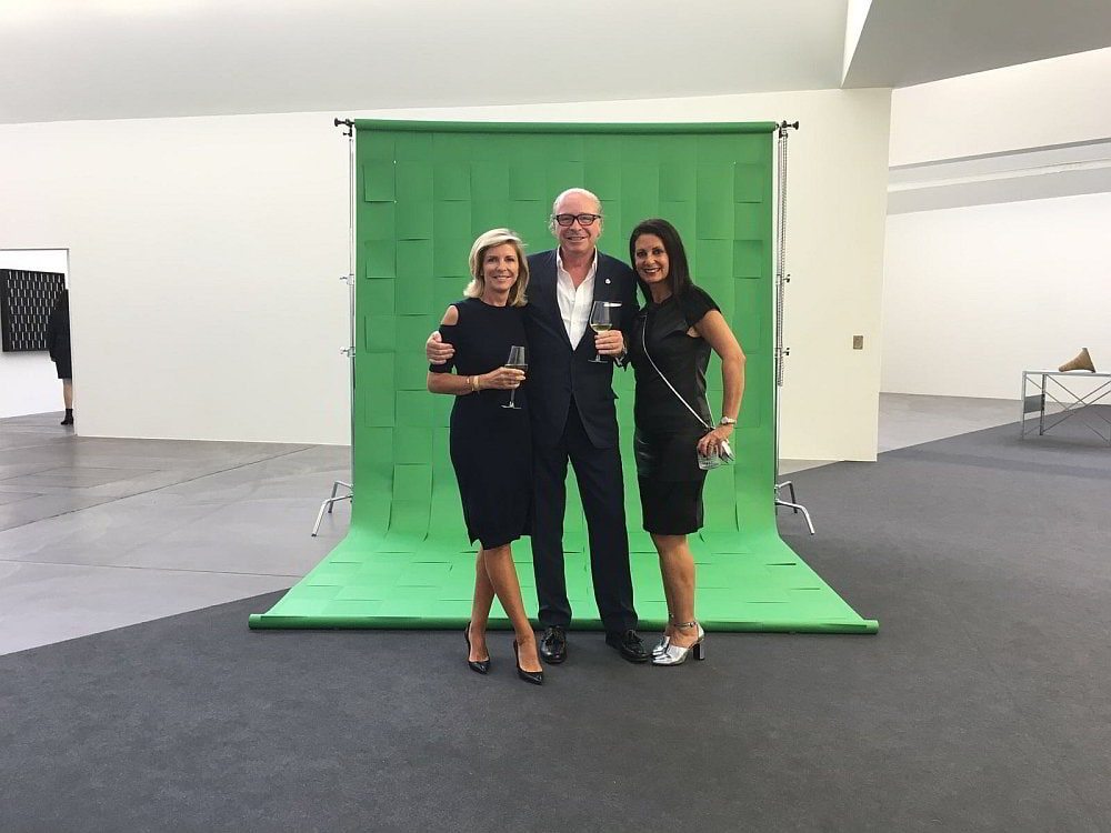 Before the show: Renate Schwarz, Aon Head Private Clients, Nikolaus S. Barta, CEO Barta & Partner, Bambi Blumberg, VIP Relationship Manager ART Basel Australasia.